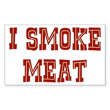 I Smoke Meat Sticker (Rectangle)