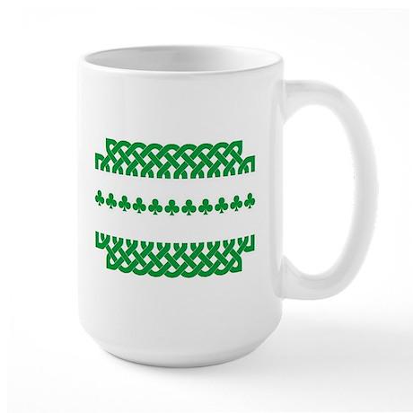 Large Mug Celtic Knot Green/Shamrocks