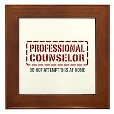 Professional Counselor Framed Tile