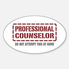 Professional Counselor Oval Decal