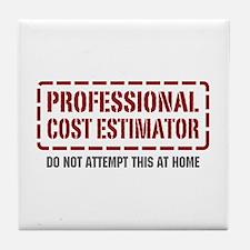 Professional Cost Estimator Tile Coaster