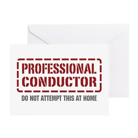 Professional Conductor Greeting Card