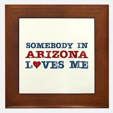 Somebody in Arizona Loves Me Framed Tile