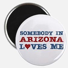 "Somebody in Arizona Loves Me 2.25"" Magnet (10 pack"