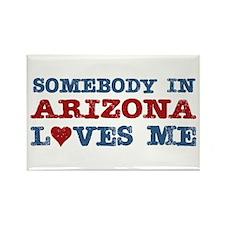 Somebody in Arizona Loves Me Rectangle Magnet