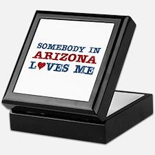 Somebody in Arizona Loves Me Keepsake Box