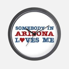 Somebody in Arizona Loves Me Wall Clock