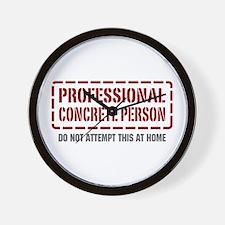 Professional Concrete Person Wall Clock