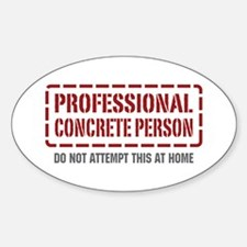 Professional Concrete Person Oval Decal