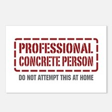 Professional Concrete Person Postcards (Package of