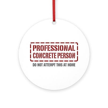 Professional Concrete Person Ornament (Round)