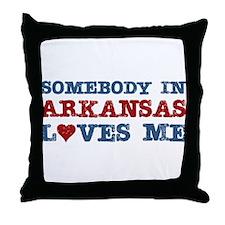 Somebody in Arkansas Loves Me Throw Pillow