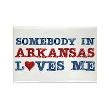 Somebody in Arkansas Loves Me Rectangle Magnet