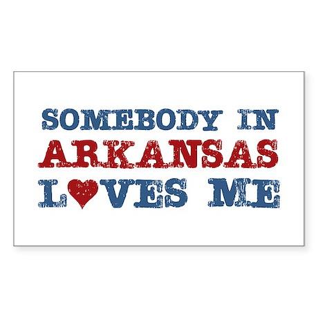 Somebody in Arkansas Loves Me Rectangle Sticker 1