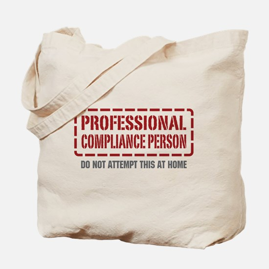 Professional Compliance Person Tote Bag