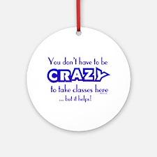 CRAZY (classes) Keepsake (Round)