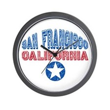 San Francisco California Retro Wall Clock