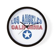 Los Angeles California Retro Wall Clock