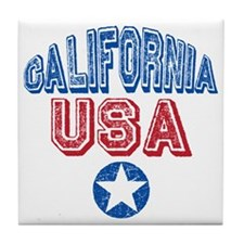 California USA State Retro Tile Coaster