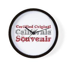 Certified California Souvenir Wall Clock
