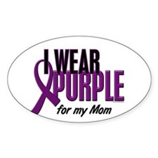 I Wear Purple For My Mom 10 Oval Decal