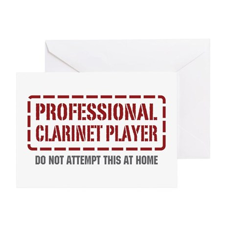 Professional Clarinet Player Greeting Card