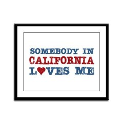 Somebody in California Loves Me Framed Panel Print