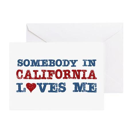 Somebody in California Loves Me Greeting Card