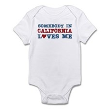 Somebody in California Loves Me Infant Bodysuit