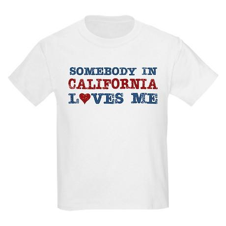 Somebody in California Loves Me Kids Light T-Shirt