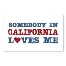 Somebody in California Loves Me Decal