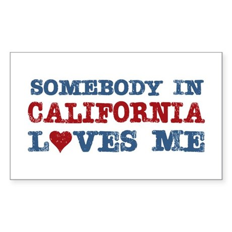Somebody in California Loves Me Sticker (Rectangle