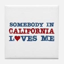 Somebody in California Loves Me Tile Coaster
