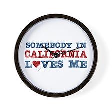 Somebody in California Loves Me Wall Clock