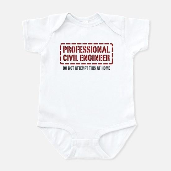 Professional Civil Engineer Infant Bodysuit