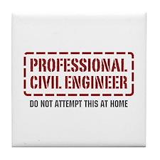 Professional Civil Engineer Tile Coaster