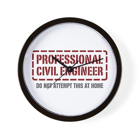 Professional Civil Engineer Wall Clock