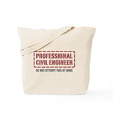 Professional Civil Engineer Tote Bag