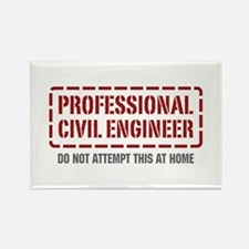 Professional Civil Engineer Rectangle Magnet