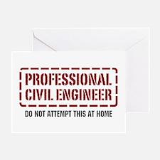 Professional Civil Engineer Greeting Card