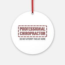Professional Chiropractor Ornament (Round)