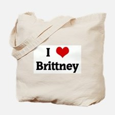 I Love Brittney Tote Bag