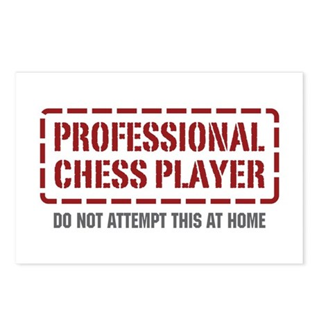 Professional Chess Player Postcards (Package of 8)