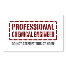 Professional Chemical Engineer Rectangle Decal