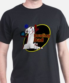 Number 1 Bowling Dad-wht T-Shirt