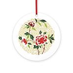 Delicate Blossoms Ornament (Round)