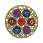 Chinese Flowers Ornament (Round)