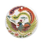 Chinese Luck Rooster Ornament (Round)