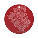 Asian Vase (Red) Ornament (Round)