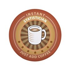 """Instant Statistician 3.5"""" Button (100 pack)"""